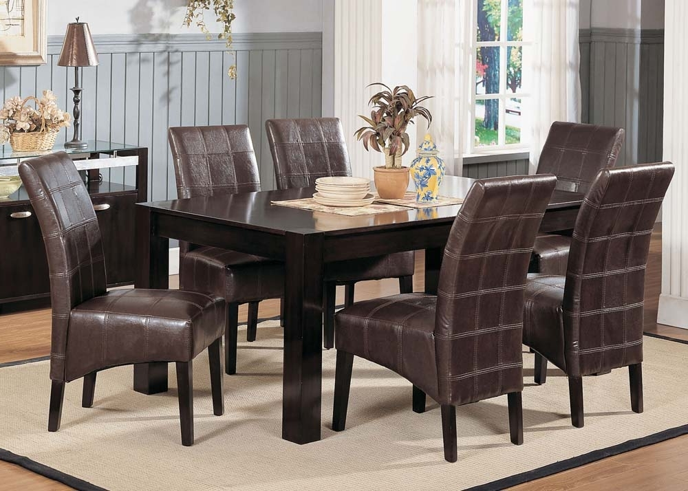 Popular Casual : Furniture Warehouse One, Dallas Fort Worth Metroplex With Market 7 Piece Dining Sets With Side Chairs (View 16 of 20)