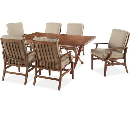 Popular Catalina 7 Piece Dining Set – The Catalina Dining Set Includes 6 With Regard To Craftsman 7 Piece Rectangle Extension Dining Sets With Arm & Side Chairs (View 18 of 20)