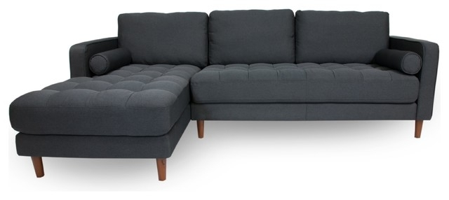 Popular Charlotte Sectional – Midcentury – Sectional Sofas Myers Goods Llc With Regard To Meyer 3 Piece Sectionals With Laf Chaise (View 12 of 15)
