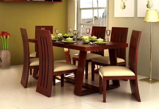 Popular Cheap 6 Seater Dining Tables And Chairs With Regard To Lovely Delightful Dining Tables Sets Design Amusing Enthralling (View 20 of 20)