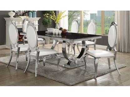 Popular Chrome Kitchen Table Home And Furniture (View 15 of 20)
