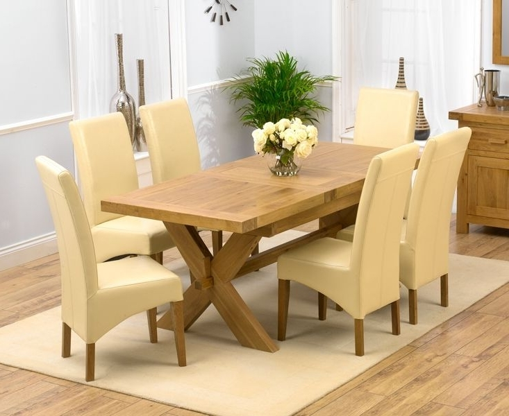 Popular Chunky Solid Oak Dining Table And 6 Chairs – Go To Regarding Solid Oak Dining Tables And 6 Chairs (View 11 of 20)