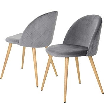 Popular Coavas Dining Chairs Soft Velvet Kitchen Chairs Living Room Lounge In Dining Chairs (View 15 of 20)