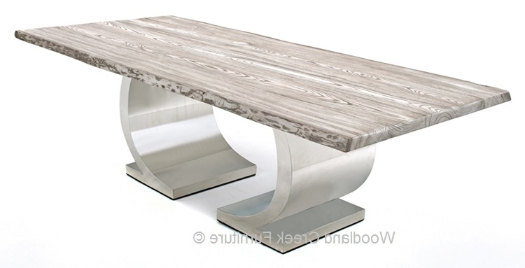 Popular Contemporary Base Dining Tables For Dining Table With Modern Half Circle Base, Contemporary (View 14 of 20)
