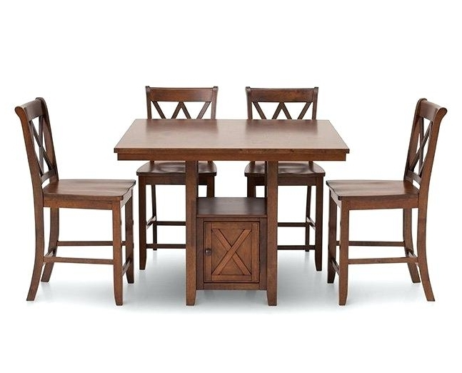 Popular Counter Height Tables Furniture Row Dining Chairs Cottage 5 Room Set Throughout Caden 5 Piece Round Dining Sets (View 18 of 20)