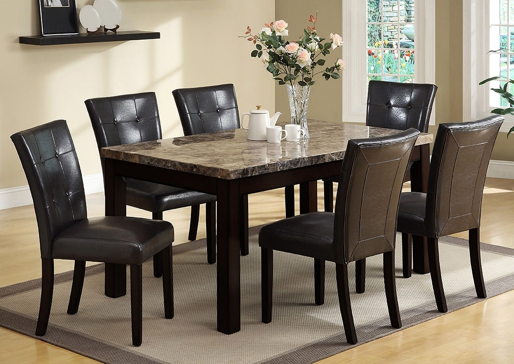 Popular Craftsman 7 Piece Rectangle Extension Dining Sets With Side Chairs With Regard To Meyers & Tabakin Inc Bruce Rectangular Dining Table W/4 Side Chairs (View 18 of 20)