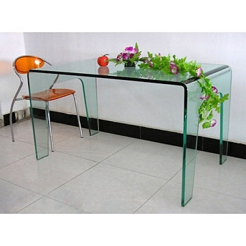 Popular Curved Glass Dining Tables Inside Curving Glass Dining Table (View 18 of 20)