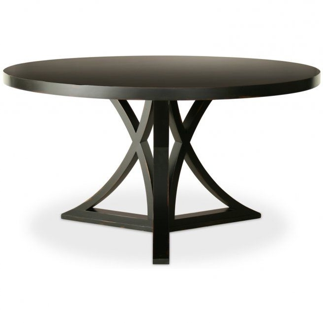 Popular Dark Round Dining Tables Within Round Black Dining Room Table Design Inspirations: Sophia Round (View 12 of 20)