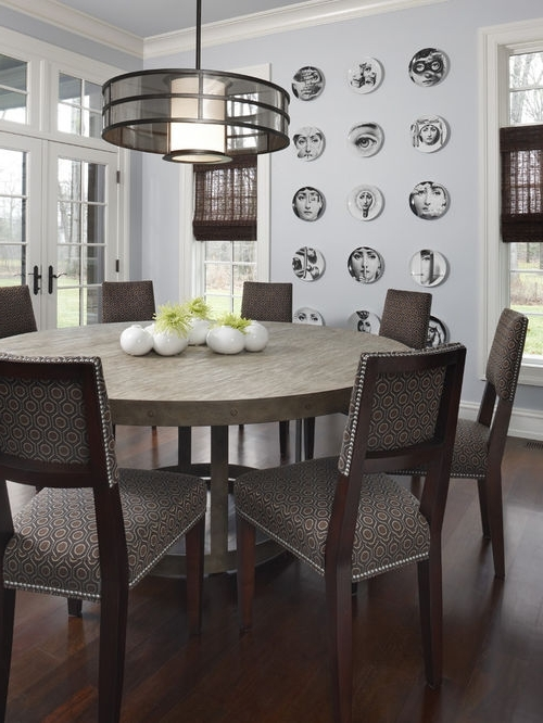 Popular Dining Furniture – Large Wooden Dining Table – Home Decor Ideas With Regard To Huge Round Dining Tables (View 17 of 20)