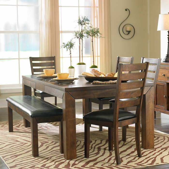 Popular Dining Table With Bench And Chairs Treenovation Kitchen Table Sets With Small Dining Tables And Bench Sets (View 6 of 20)
