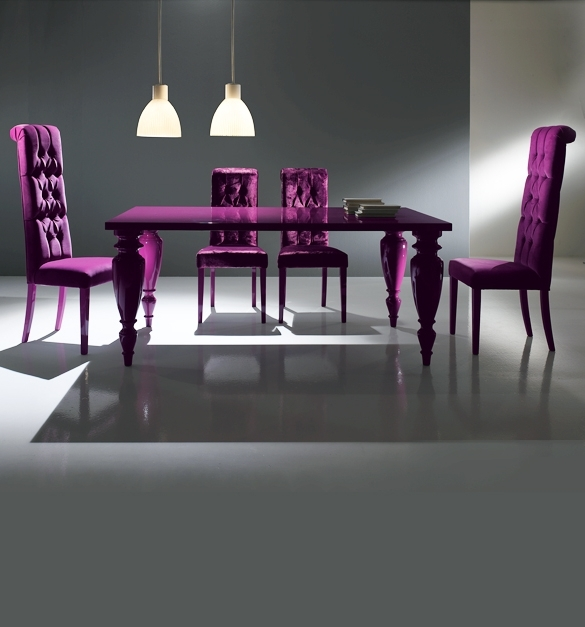 Popular Dining Tables And Purple Chairs With Purple Dining Room Sets (View 16 of 20)