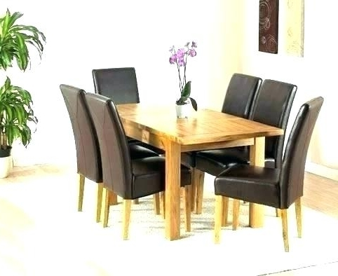 Popular Extending Dining Tables 6 Chairs Intended For Solid Oak Extending Dining Table And 6 Chairs Round Room For (View 15 of 20)