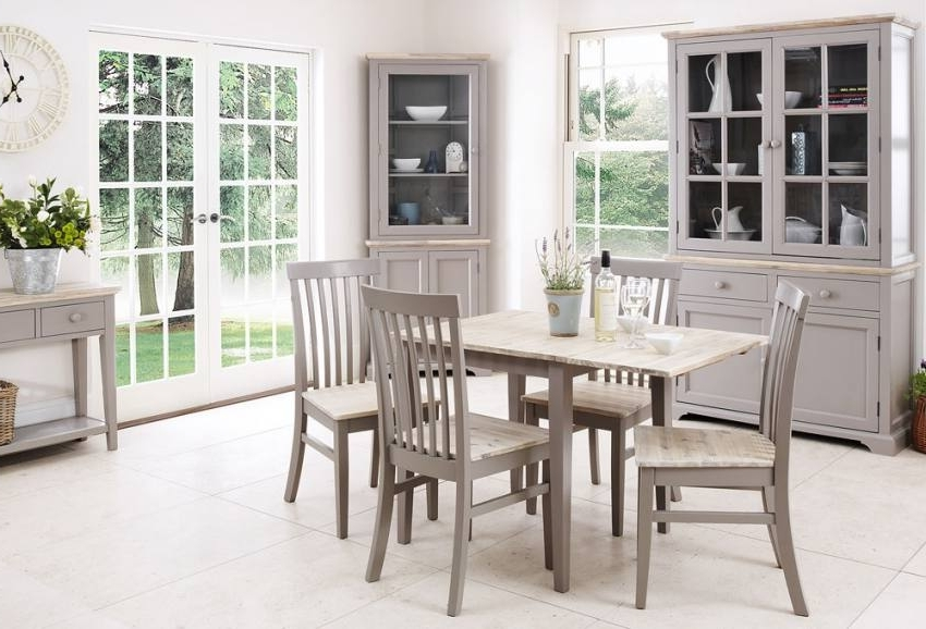 Popular Florence Dining Tables Pertaining To Statement Furniture – Florence Dove Grey Matt Painted & Washed (View 16 of 20)