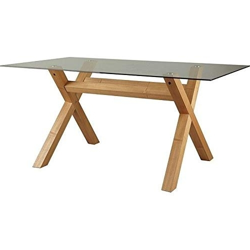 Popular Glass Dining Table: Amazon.co (View 17 of 20)