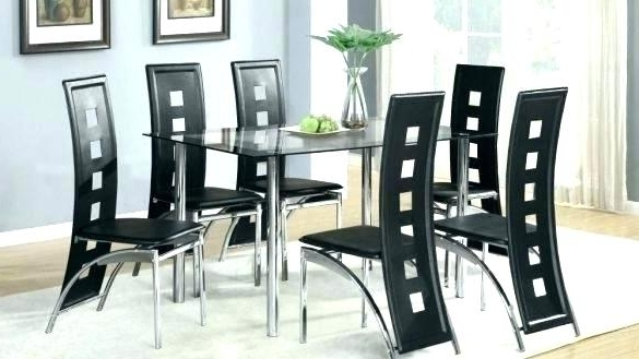 Popular Glass Dining Tables With 6 Chairs With Regard To Exotic Glass Dining Sets 6 Chairs Glass Extendable Dining Table (View 18 of 20)