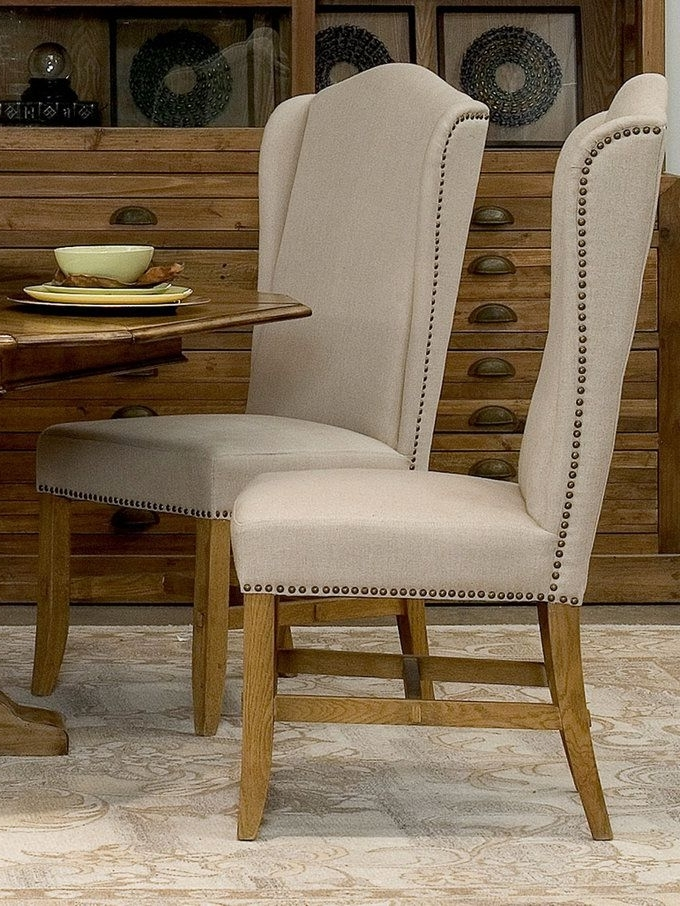 Popular High Back Dining Chairs (Set Of 2) From Living In Linen: Furniture Pertaining To High Back Dining Chairs (View 3 of 20)