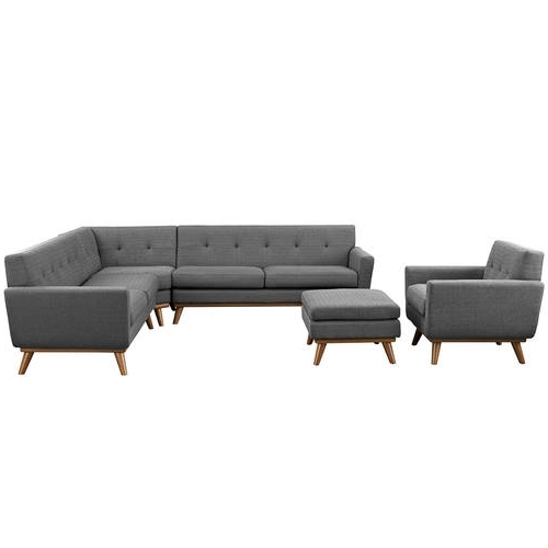 Popular Josephine 2 Piece Sectionals With Laf Sofa Within Engage 5 Piece Sectional Sofa Expectation Graymodern Living (View 12 of 15)