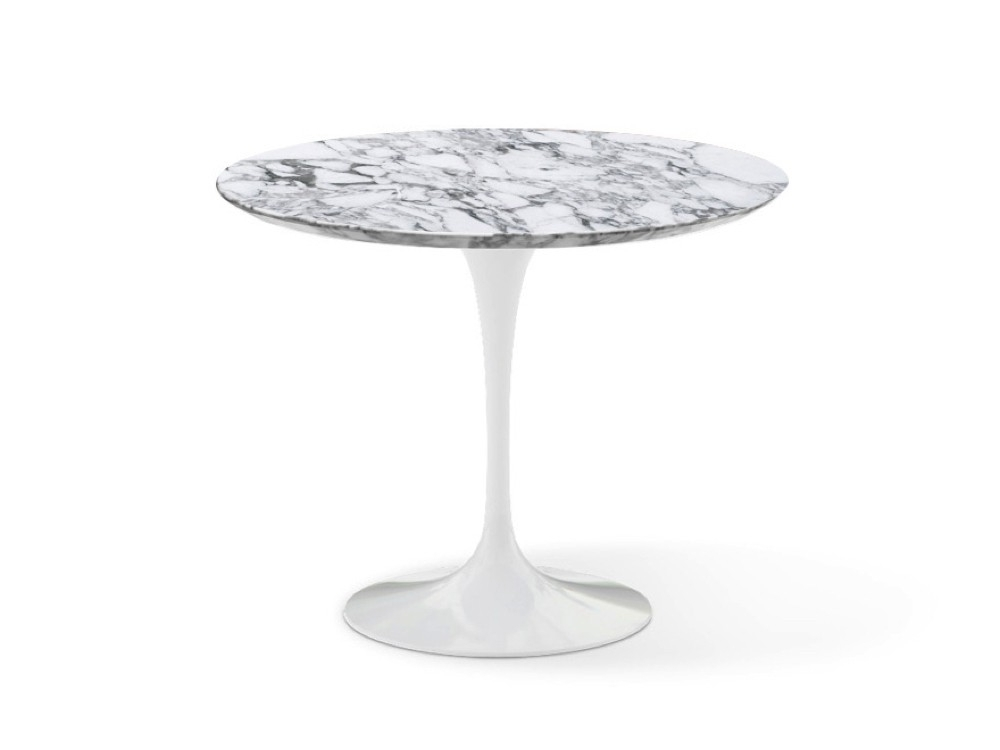 Popular Knoll Saarinen Tulip Round Dining Table With White Base And With White Circular Dining Tables (View 12 of 20)