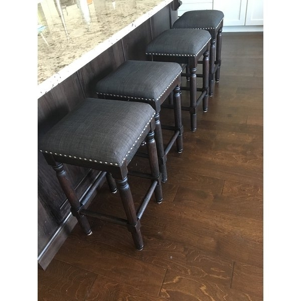 Popular Laurent 7 Piece Counter Sets With Wood Counterstools With Shop Carbon Loft Branson Coffee Counter Stools (Set Of 2) – Free (View 14 of 20)