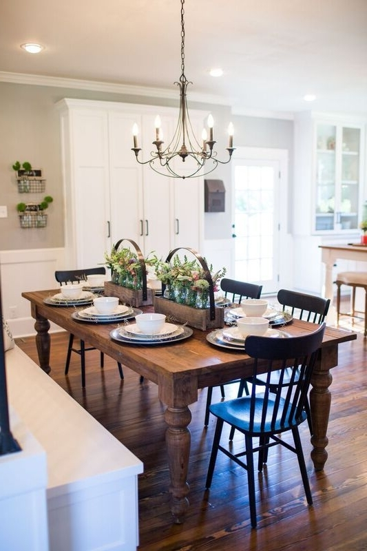 Popular Magnolia Home Breakfast Round Black Dining Tables Pertaining To Fixer Upper In  (View 17 of 20)