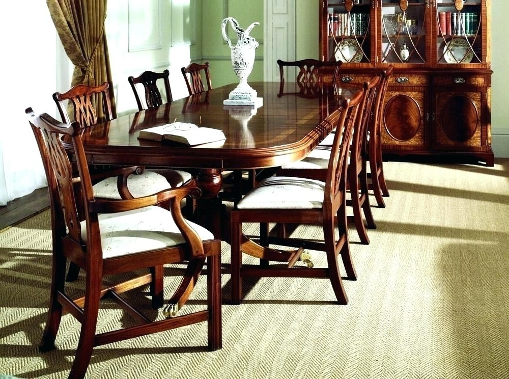 Popular Mahogany Dining Table Sets Intended For Mahogany Dining Room Table And 8 Chairs Sets Discontinued Antique (View 9 of 20)