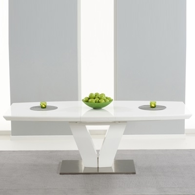 Popular Malta High Gloss White Extending Dining Table – Robson Furniture Intended For High Gloss White Extending Dining Tables (View 11 of 20)