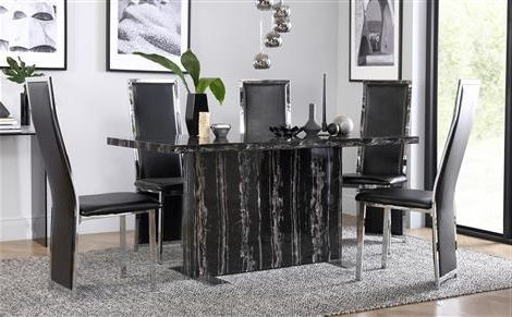 Popular Marble Dining Sets (View 14 of 20)