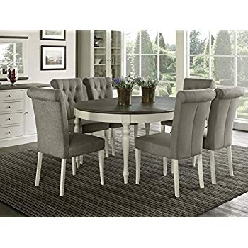 Popular Market 7 Piece Dining Sets With Host And Side Chairs Pertaining To Amazon – Vegas 7 Piece Round To Oval Extension Dining Table Set (View 14 of 20)