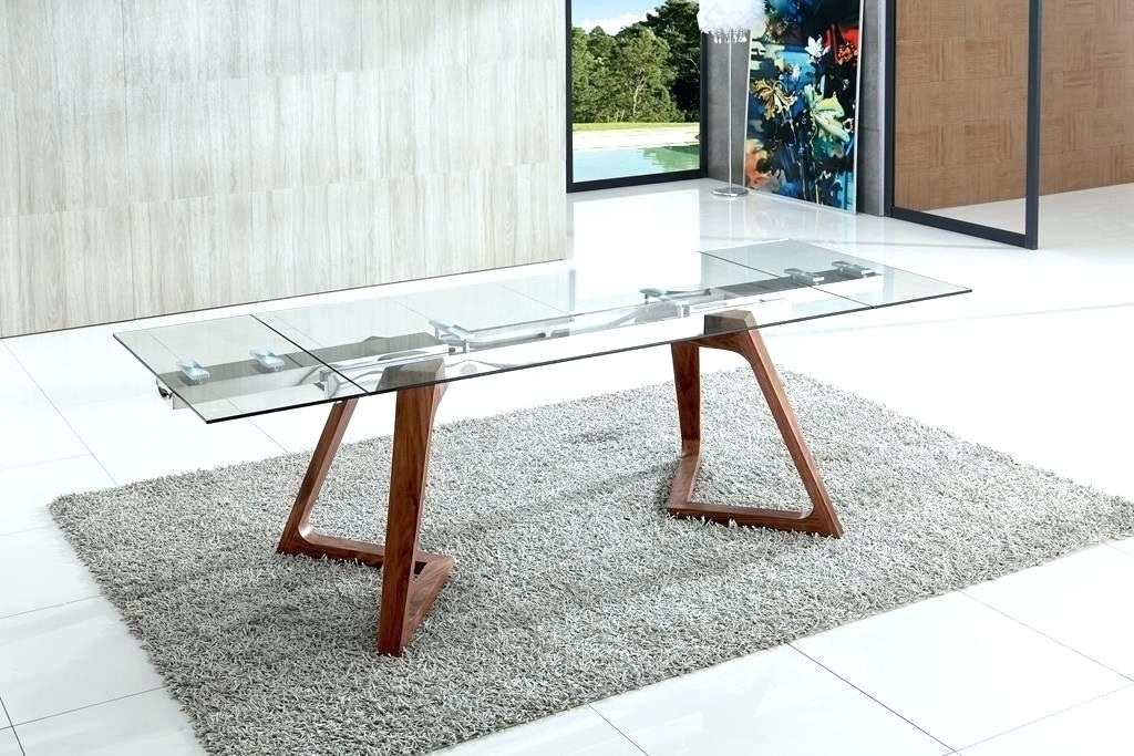 Popular Modern Glass Dining Table Set – Icld With Extendable Glass Dining Tables (View 17 of 20)