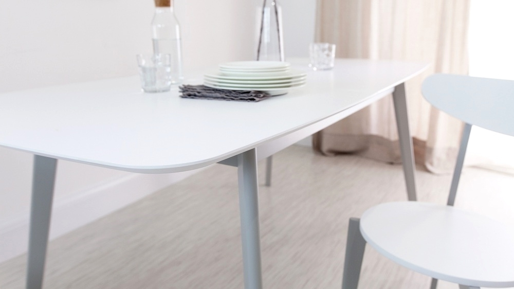 Popular Modern Grey And White Extending Dining Table 8 Seater Uk Grey And Inside White Extending Dining Tables (View 20 of 20)