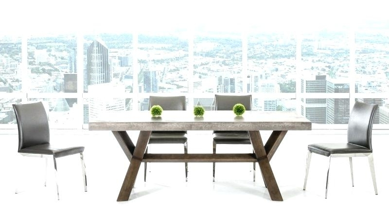 Popular Modern Rectangular Wood Dining Table Modrest Crawford Glass For Crawford Rectangle Dining Tables (View 13 of 20)