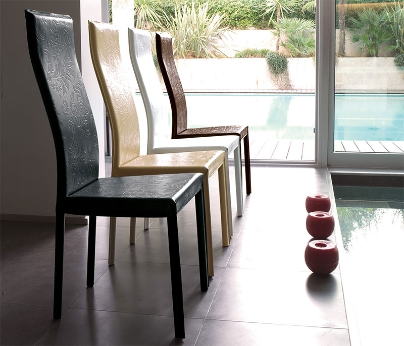 Popular Modern Unico Onda Real Leather Dining Chair Choice Of Colour Throughout Real Leather Dining Chairs (View 10 of 20)