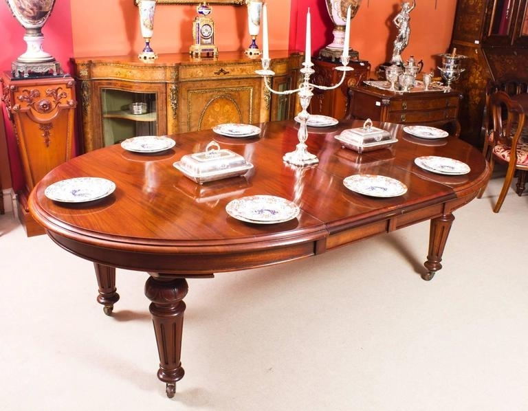 Popular Oval Extending Dining Tables And Chairs With Antique Victorian Oval Dining Table And Eight Chairs, Circa 1860 At (Gallery 19 of 20)