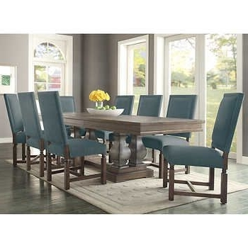 Popular Parador 9 Piece Dining Set – Fabric Costco $ (View 10 of 20)