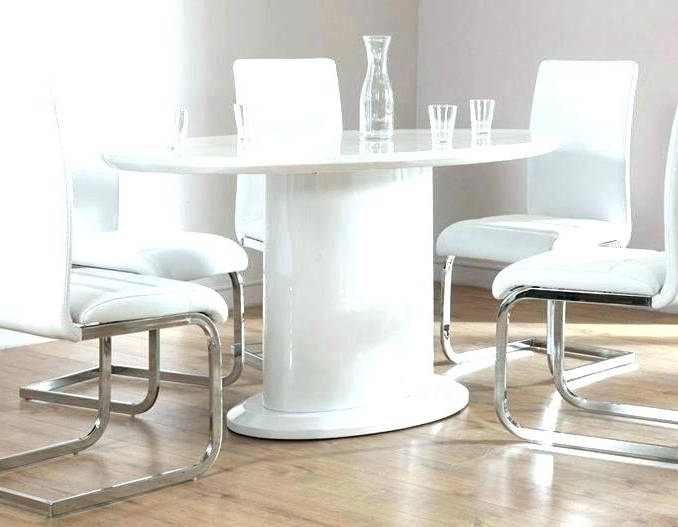Popular Round High Gloss Dining Tables Inside White Gloss Dining Set Extending White Gloss Dining Table Furniture (View 11 of 20)