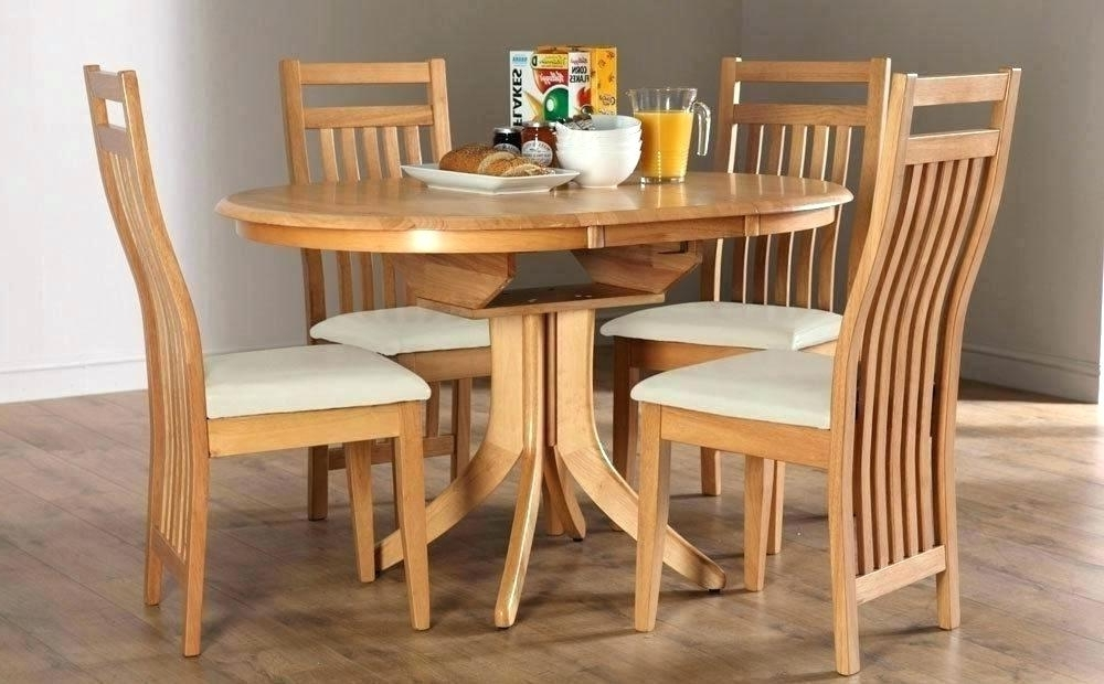 Popular Round Oak Dining Tables And 4 Chairs With Oak Dining Table 4 Chairs Set New Royal Charming Tables Room Full (View 8 of 20)