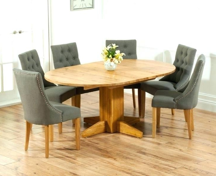 Popular Round Oak Extendable Dining Tables And Chairs Regarding Oak Dining Table And Chairs Dark Oak Dining Room Sets Oak Dining (View 12 of 20)