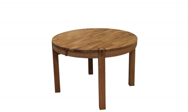 Popular Royal Oak – Round Glass Dining Table – Fishpools Within Circular Oak Dining Tables (View 15 of 20)