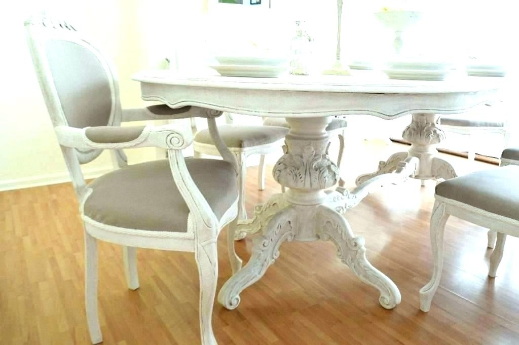 Popular Shabby Chic Dining Sets Pertaining To Shabby Chic Small Dining Table Flea Market Chic Dining Table Height (View 9 of 20)