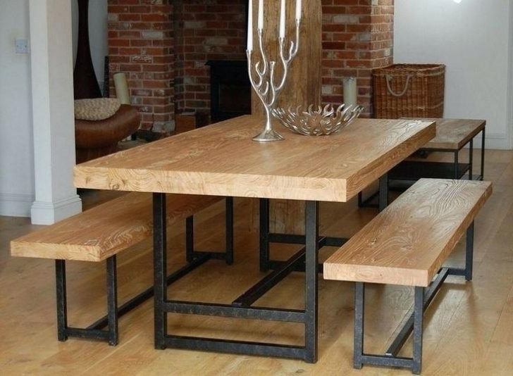 Popular Small Dining Table Bench Set Rustic Tables For Intended Plan Ideas Throughout Small Dining Tables And Bench Sets (View 14 of 20)