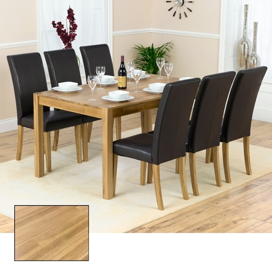 Popular Solid Oak Dining Tables And 6 Chairs Within Atlanta Solid Oak Dining Table And 6 Atlanta Dining Chairs (View 5 of 20)