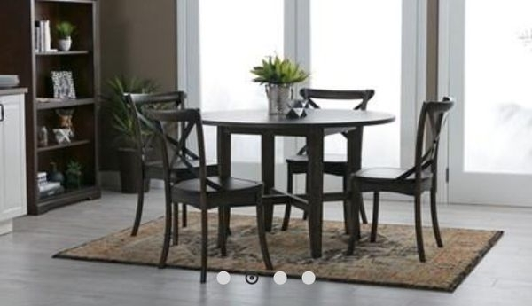 Popular Table With Trestle With Shelf And Table Top (2 Trestles And 1 Table Inside Grady 5 Piece Round Dining Sets (View 3 of 20)