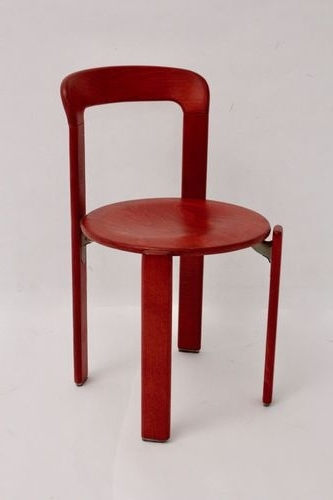 Popular Vintage Red Dining Chairsbruno Rey For Kusch & Co, Set Of 4 For In Red Dining Chairs (View 11 of 20)
