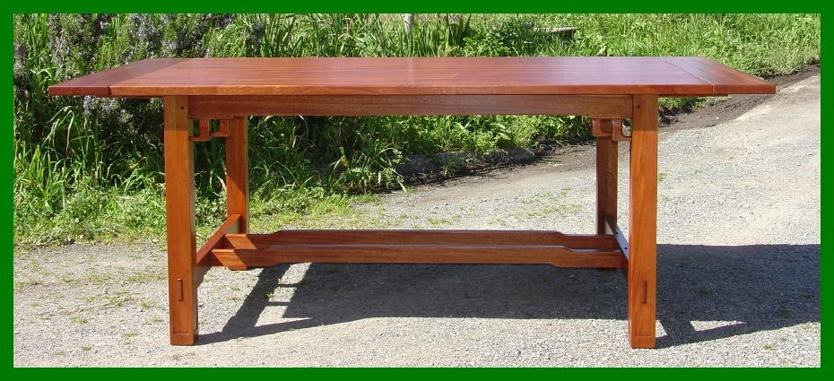 Popular Voorhees Craftsman Mission Oak Furniture – Greene And Greene Within Craftsman Rectangle Extension Dining Tables (View 14 of 20)