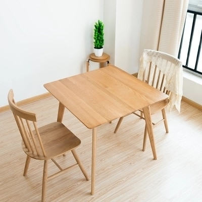 Popular Wood Dining Tables Inside Solid Wood Dining Table Simple White Oak Square Table Wood Small (View 15 of 20)