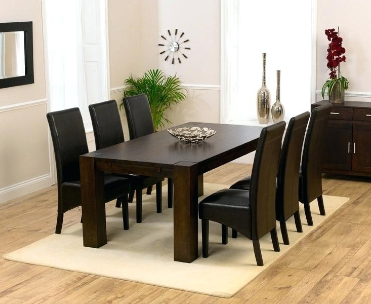 Popular Wooden Dining Table And 6 Chairs Dark Wood Dining Table 6 Chairs Regarding Dark Wood Dining Tables And 6 Chairs (View 16 of 20)