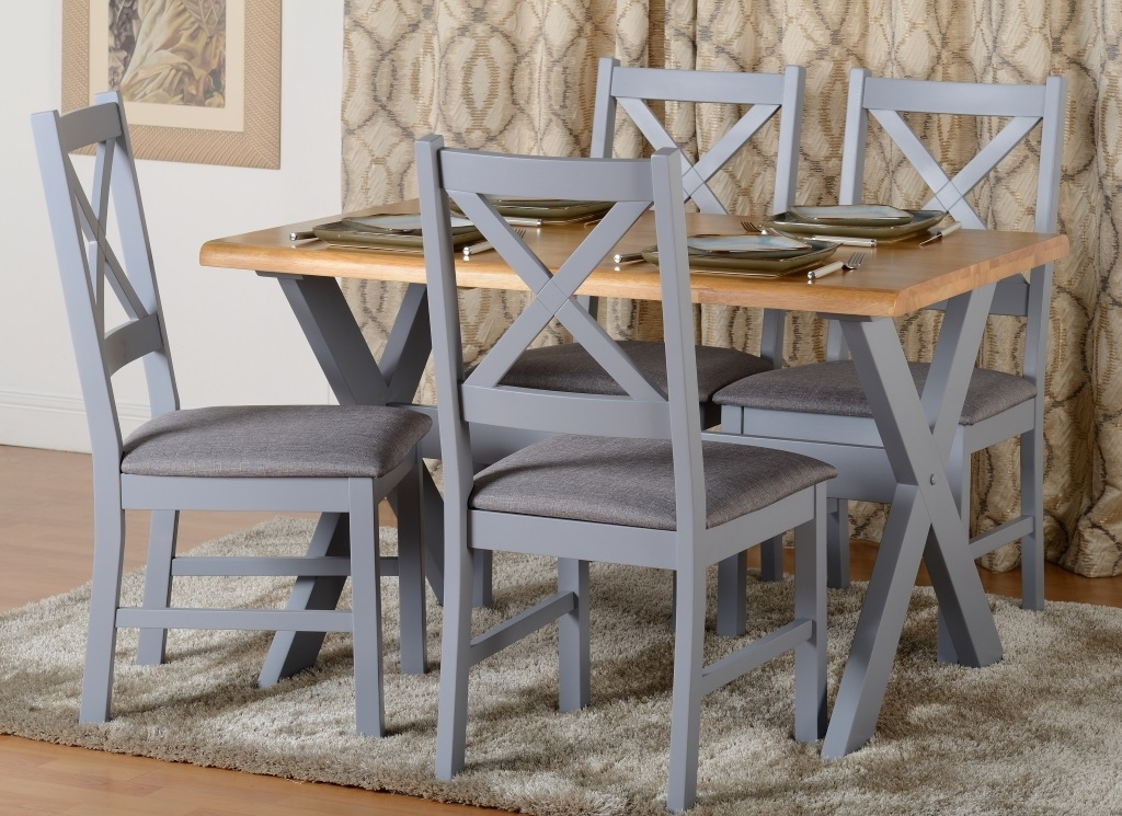 Portland Dining Tables Throughout Most Recent Portland Dining Set In Blue/grey (View 16 of 20)