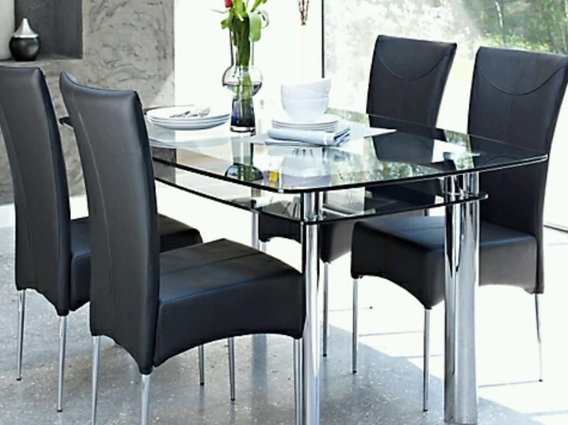 Postadsuk Harveys Glass Dining Table 6 Chairs – Pelham Furniture Inside Preferred Glass Dining Tables And 6 Chairs (View 6 of 20)