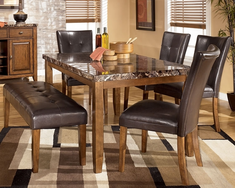 Practical Bench Dining Room Sets For Large Families (View 11 of 20)