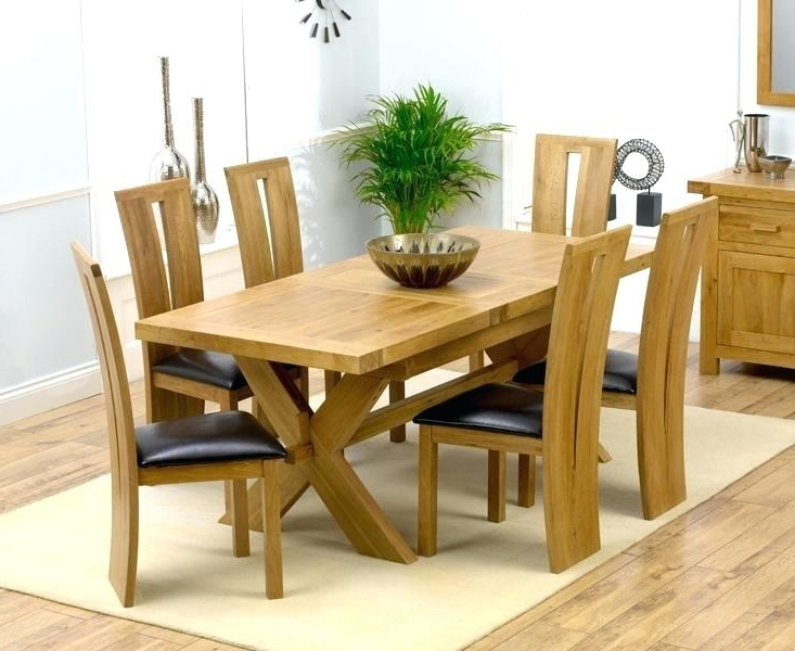 Preferred 6 Seat Dining Tables Throughout Decoration: 6 Chair Dining Table Lovely Solid Oak Tables And Chairs (View 9 of 20)